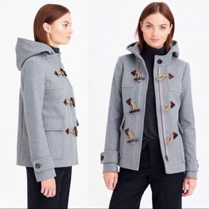 J. Crew Melton Wool Toggle Coat sz 2